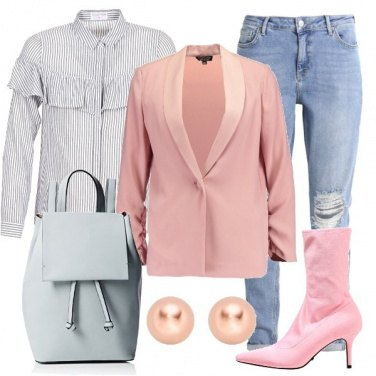 Outfit Blazer rosa