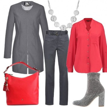 Outfit Gocce di rosso