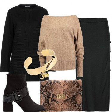 Outfit Animalier chic