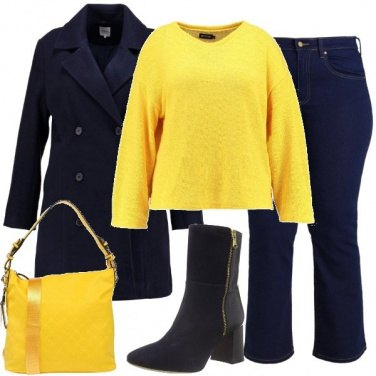 Outfit Maglioncino giallo