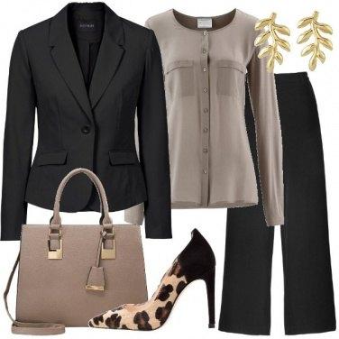 Outfit Nero e talpa