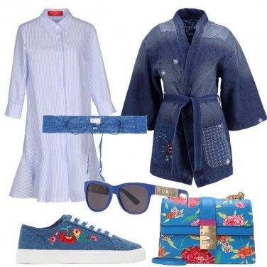 Outfit Jeans e fiori protagonisti