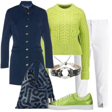 Outfit Blu e lime