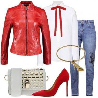 Outfit Jeans ricercato e camicia in seta