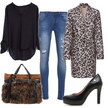 Outfit Cappotto animalier