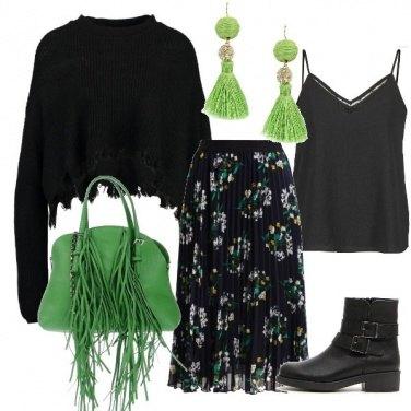 Outfit Piccoli dettagli verdi