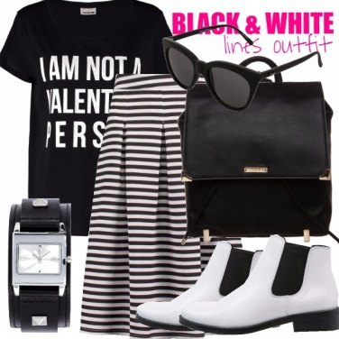 Outfit BLACK & WHITE - LINES OUTFIT