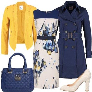 Outfit Ufficio in giallo e blu
