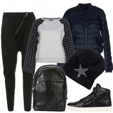 Outfit Nero anche per la scuola