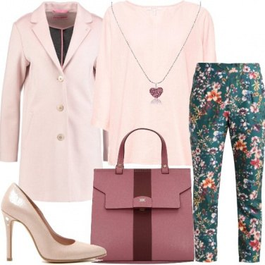 Outfit Pantaloni stampa floreale
