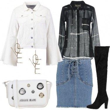 Outfit Giacca in jeans con maniche a campana