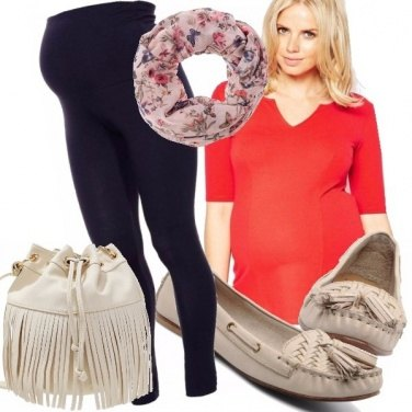 Outfit Dolce mamma casual