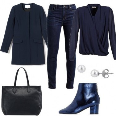 Outfit Aperitivo in total blue