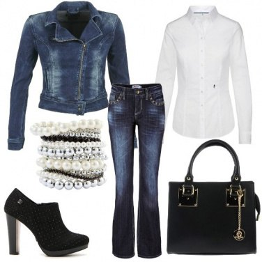 Outfit Perle in jeans