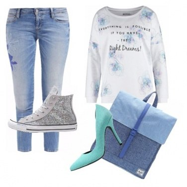 Outfit Jeans e verde acqua!