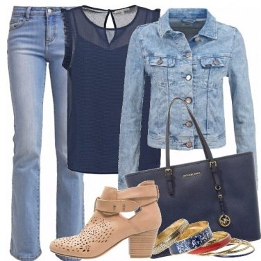 Outfit Jeans & blu