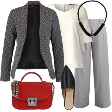 Outfit Pantalone ampio e mule
