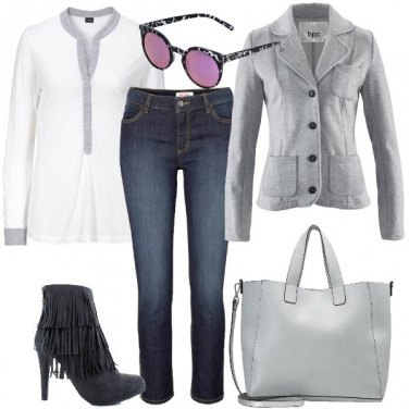 Outfit Donna in grigio