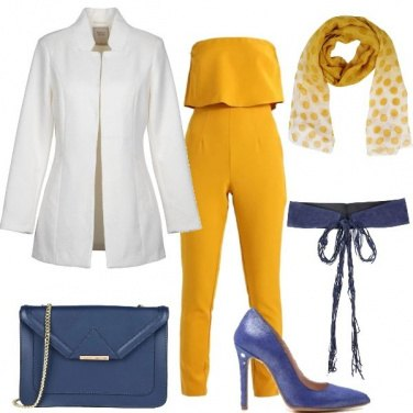 Outfit Giallo donna