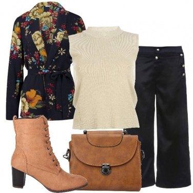 Outfit Il mio blazer floreale