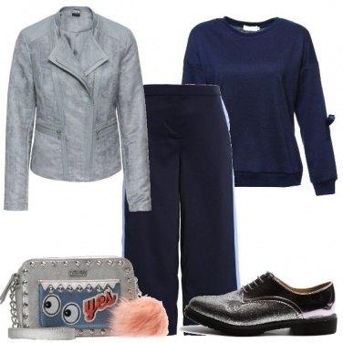 Outfit Pantaloni con bande e stringate