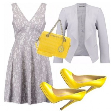 Outfit Abitini mania grey-yellow