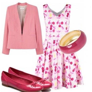 Outfit Abitini mania petali di rosa