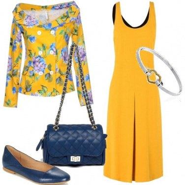 Outfit Bon ton in giallo