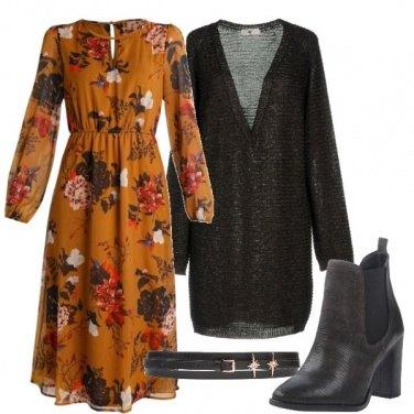 Outfit Abitino, maglia lunga e cintura in vita