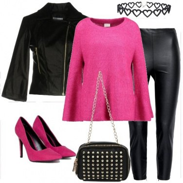 Outfit Rock in fucsia