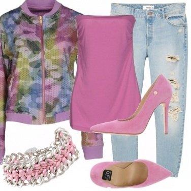 Outfit Lilla, rosa e tacchi!
