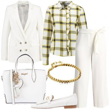 Outfit Mannish in bianco
