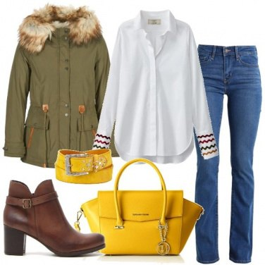 Outfit La cintura gialla