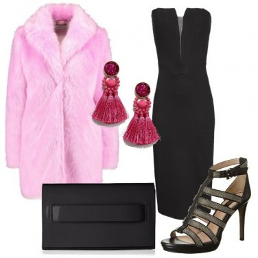 Outfit L'ecopelliccia rosa