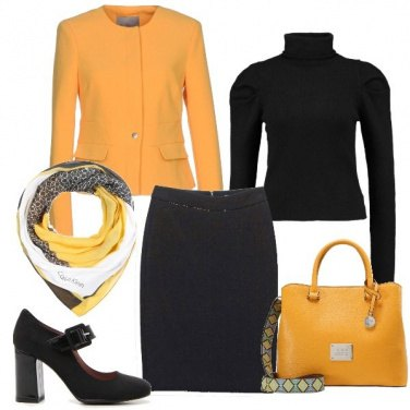 Outfit Giallo chic