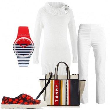Outfit Bianco illuminato da colore