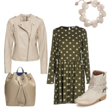 Outfit Beige a gocce