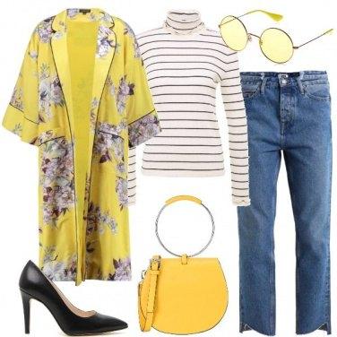 Outfit Il Kimono Giallo