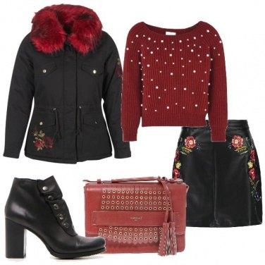 Outfit Fiori e perle