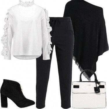 Outfit Elegante con la mantella