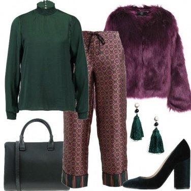 Outfit Il viola e verde