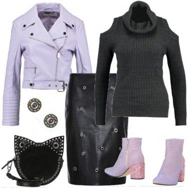Outfit Oblò, borchie e glitter