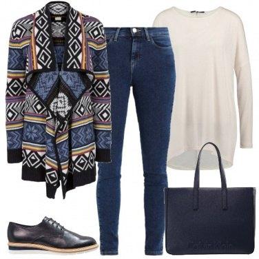 Outfit Il cardigan colorato