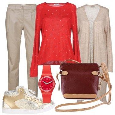 Outfit Orologio e maglia in tinta