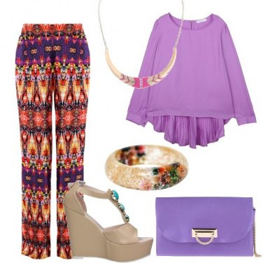 Outfit Tendenze lilla