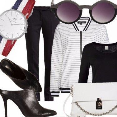 Outfit Righe classiche.