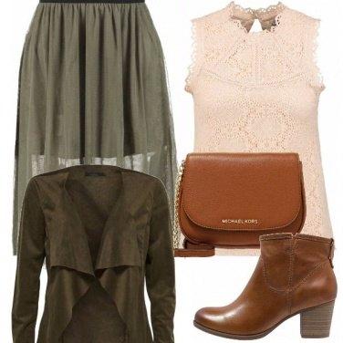 Outfit Verde militare e rosa