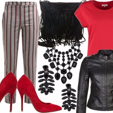 Outfit Righe sofisticate