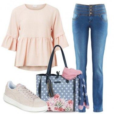 Outfit La shopping con pashmina