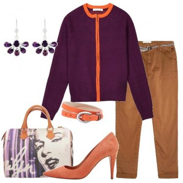 Outfit Il cardigan viola